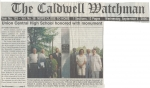 Caldwell Watchman Add covering Memorial Dedication ceremonies.