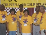 Class of 1954: Left to Right; Bluith Moore, Doris Curry Topping, Wilbert Hamilton, Doris Martin Neal, James Hardwell and