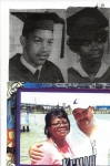 Above: Lavern and Laura Simmons Roquemore in 1968 and 1970 Graduation Photo.  Below: On vacation at Kemah Park in Housto