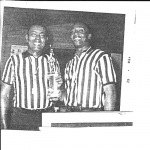 Mr. Caesar Brown (Long time Referee at UC basketball games) & Unknown
