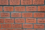 Just a few of the Memorial Bricks included in the Memorial Wall