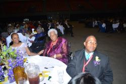 LaRita Williams, Mrs. Lottie Haynes (second oldest participant at reunion) & Rev. Henry Yearby