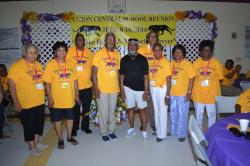 Former UC Teachers (left to right) Ruth Miles Casnave, Melva Davis Guillory, Henry Haynes, John Smith, Johnny McCaa, Dor