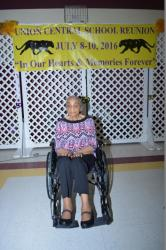 Mae Stewart, oldest participant at reunion.